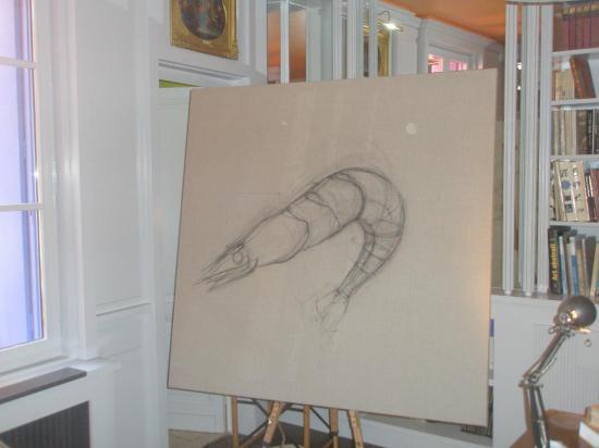 dessin crevette 1