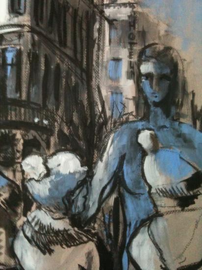Les marches du grand théâtre. Bordeaux.détail.