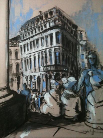 Les marches du grand théâtre. Bordeaux.