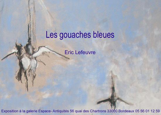 carton gouaches bleues