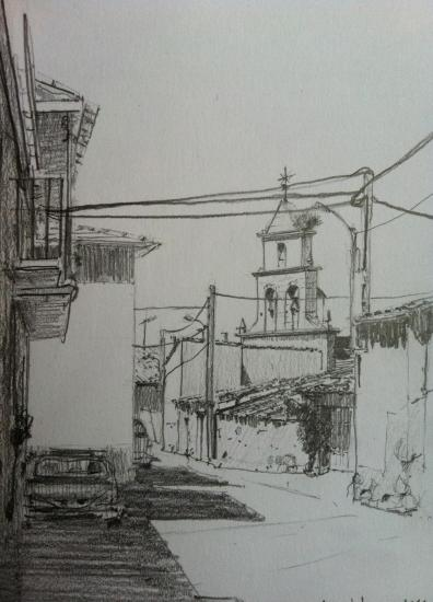 Villanueva de Campean/Crayon 2B sur Canson 180g/A5/2014