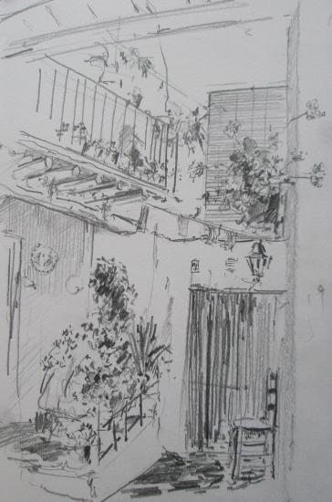 Capileira/Las Alpujarras/ format 18 x 26/ crayon 2B/2006.jpg