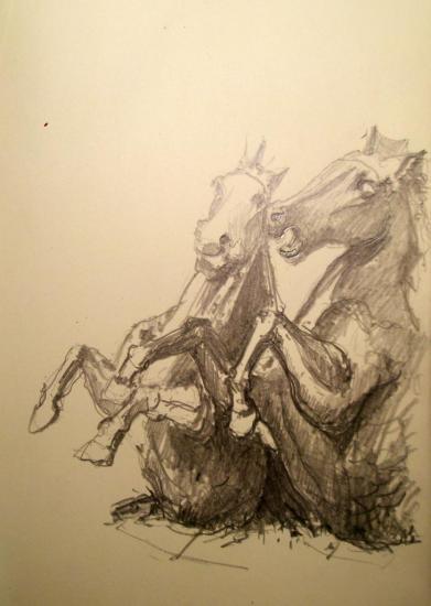 chevaux rue de l'Observatoire paris