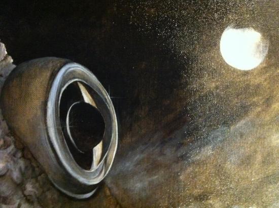 les chants mytiliques/ Détail : l'oeil du poisson pané