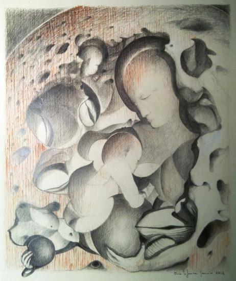 Maternité aux coquillages