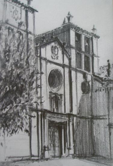 Cornellana/San-Salvador/Crayon 2B/Format 13,5 x 21,5/Août 2012.