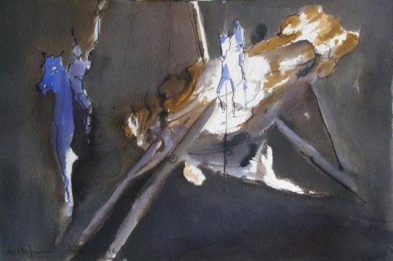 L'âme en sel/ Encre sur papier300g / Format 18 x26 / Décembre 2012.