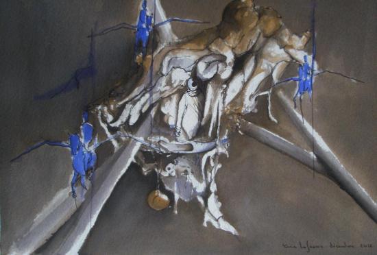 L'amphibie / Encre sur papier300g / Format 18 x26 / Décembre 2012.