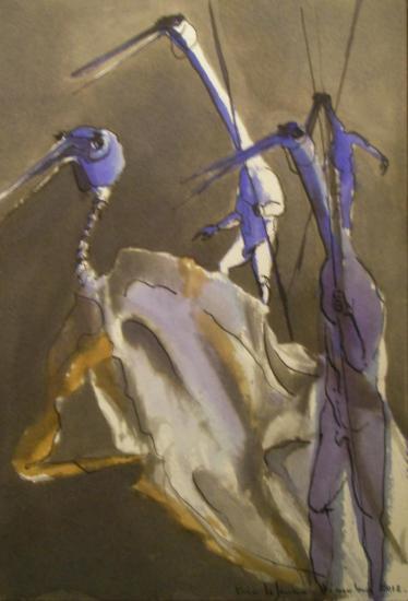 Les chimères / Encre sur papier 300g / Format 18 x 26 / décembre 2012.