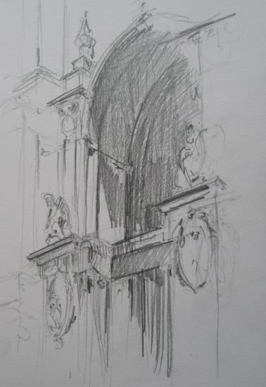 Granada/Cathedral/Format 18 x 26/crayon 2B/2006