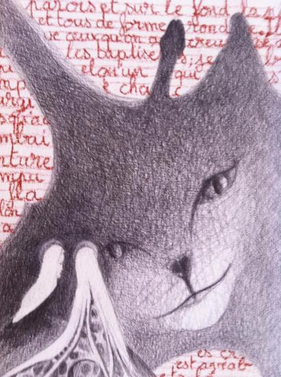 Religieuses devant une ombre-chat (La simoniaque détail)