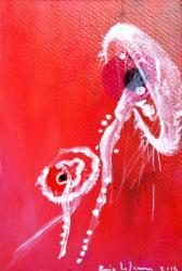 Meduse2/ Acrylique sur carton/ format 10 x 15/2014