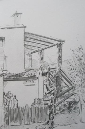 Orgiva/ La casa de Jorge/Format 18 x 26/ crayon 2B/ 2006.jpg