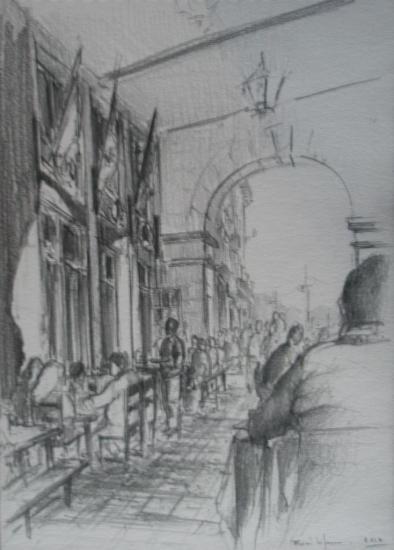 El Marinero / Castro-Urdiales /crayon 2B sur papier 224g / Format A4 / décembre 2012.
