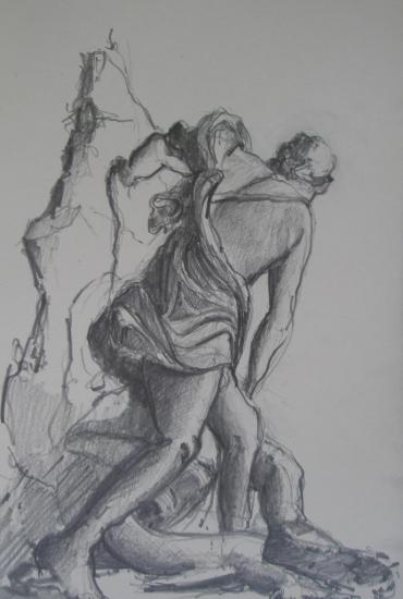 Protée et Aristée/ versailles/ crayon 2B/format 13x21